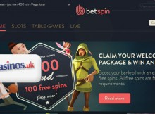 BetSpin UK Casinos Review