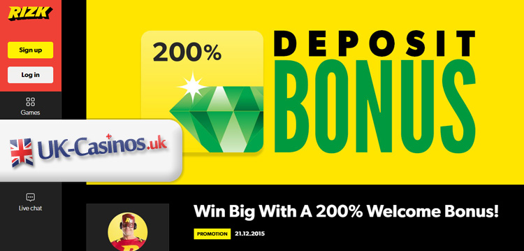 Rizk Casino - Best UK Online Casino Bonuses and Rewards!